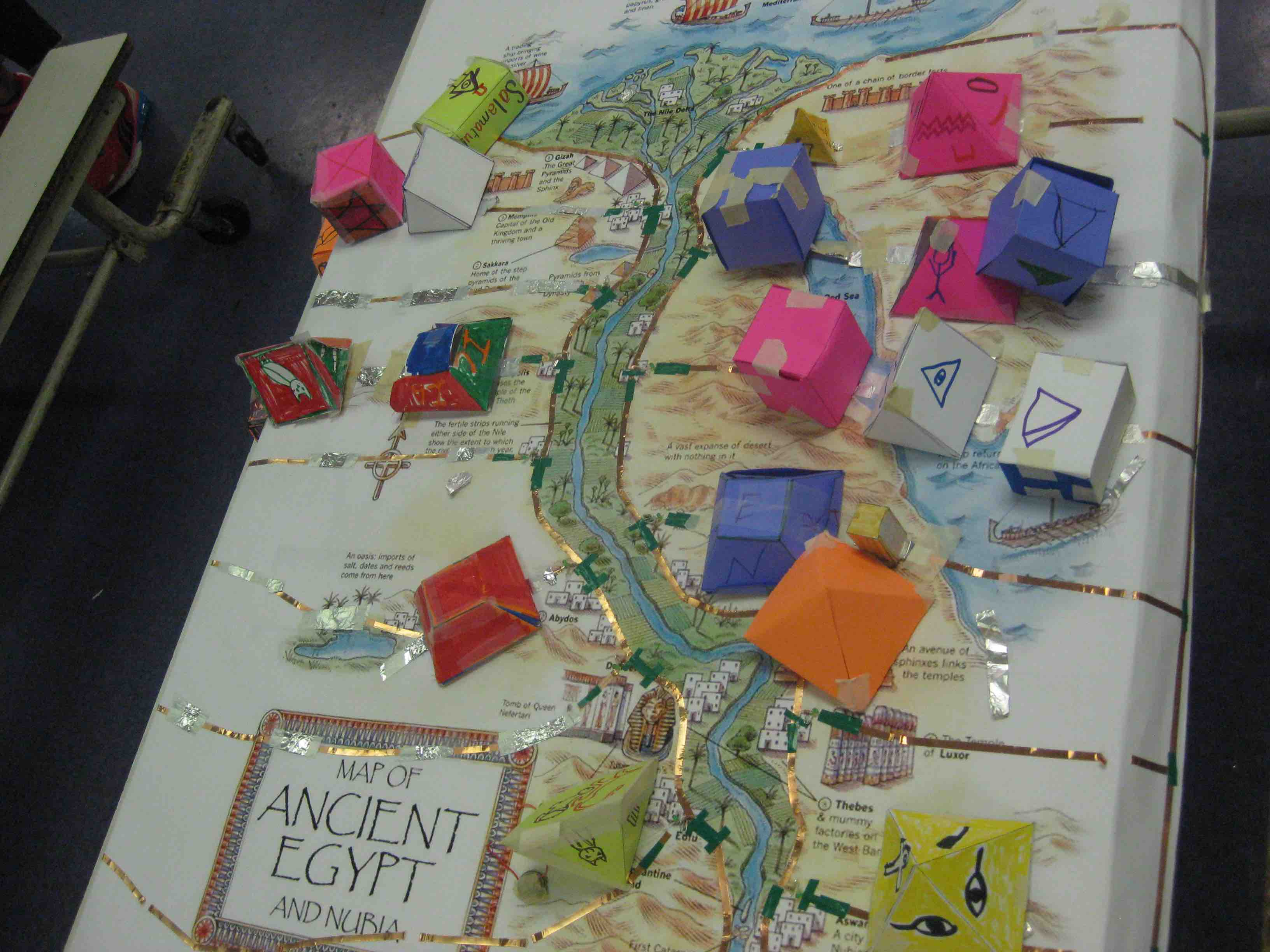 Reverse Field Trips - Map of ancient egypt for 6th grade